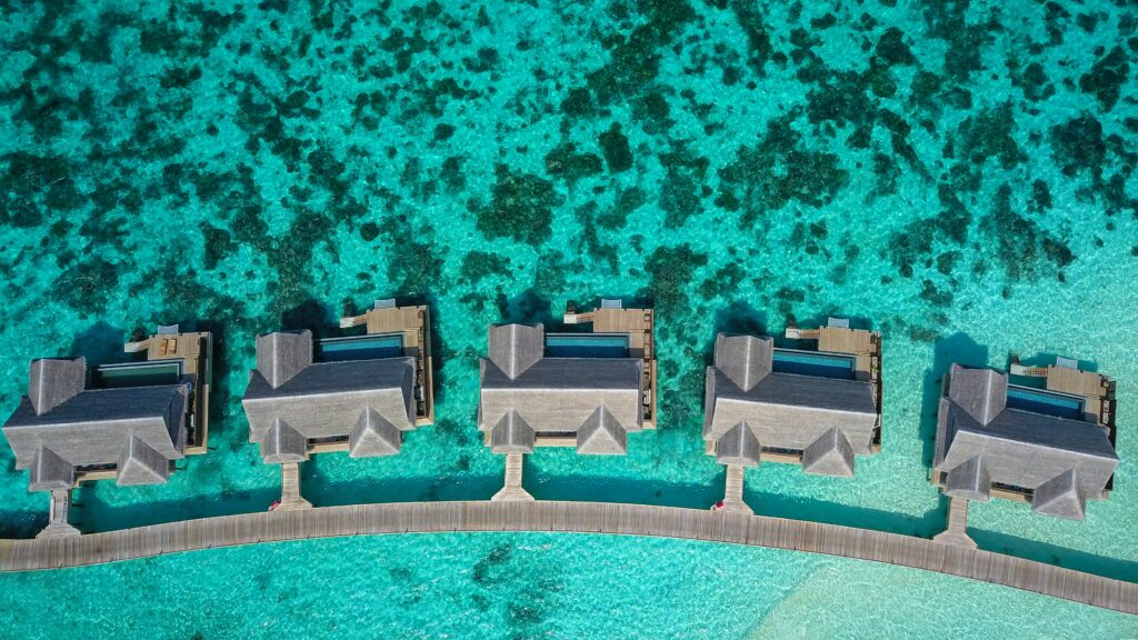 Maldives aerial bungalows